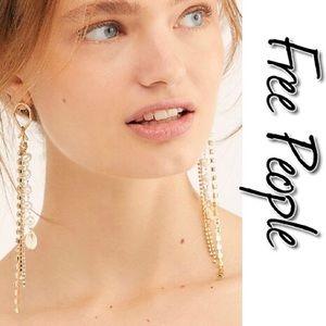 Free People Mercer Pearl Dangle Earrings NWT OS